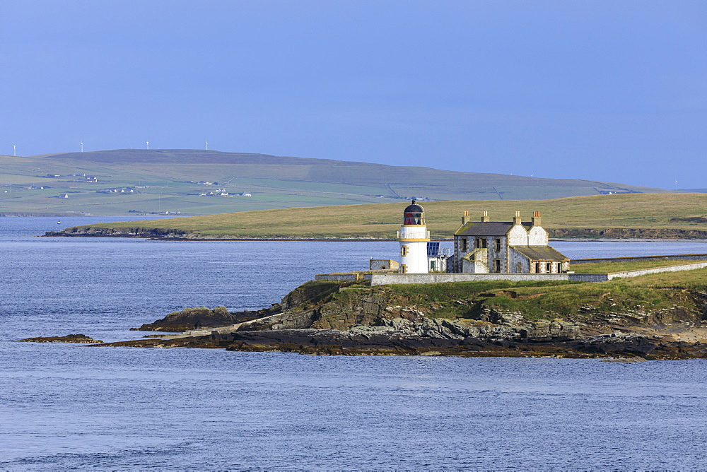 Lighthouse on Helliar Holm in Orkney Islands, Scotland, Europe - 1167-1995