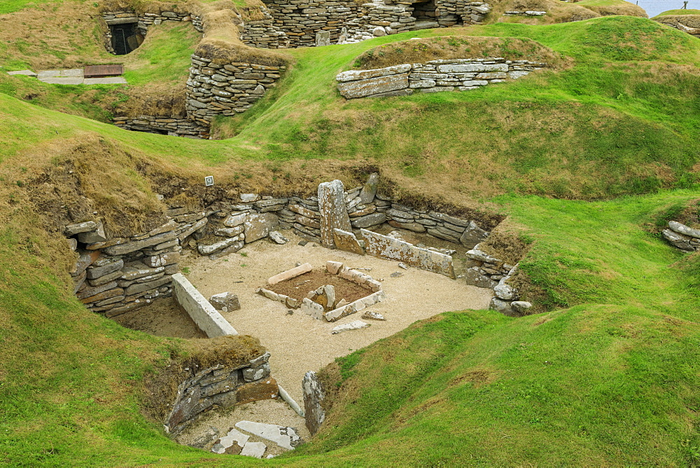 Skara Brae, Neolithic village settlement, 5000 years old, UNESCO World Heritage Site, Orkney Islands, Scotland, United Kingdom