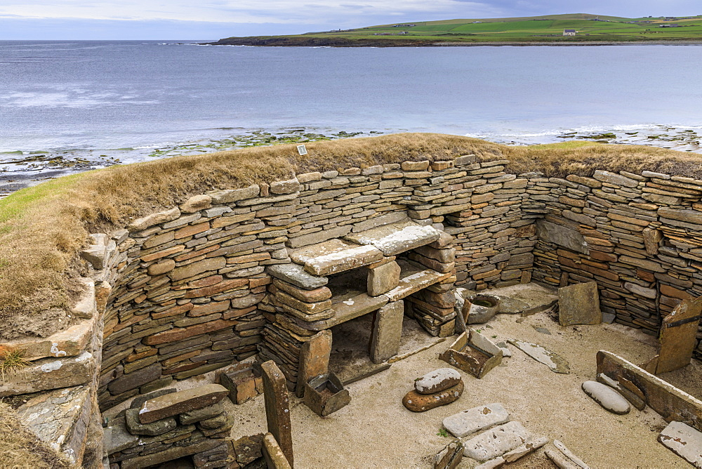 Skara Brae Neolithic settlement in Orkney Islands, Scotland, Europe