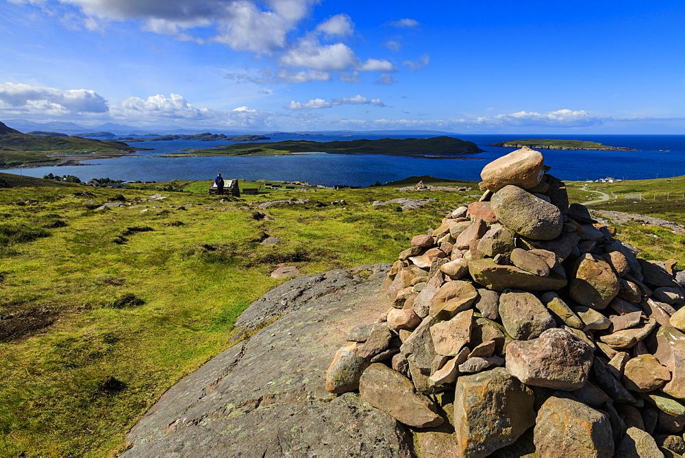 Cairns and The Summer Isles, Achiltibuie coast, Coigach Peninsula, Summer, Wester Ross, Scottish Highlands, Scotland - 1167-2020
