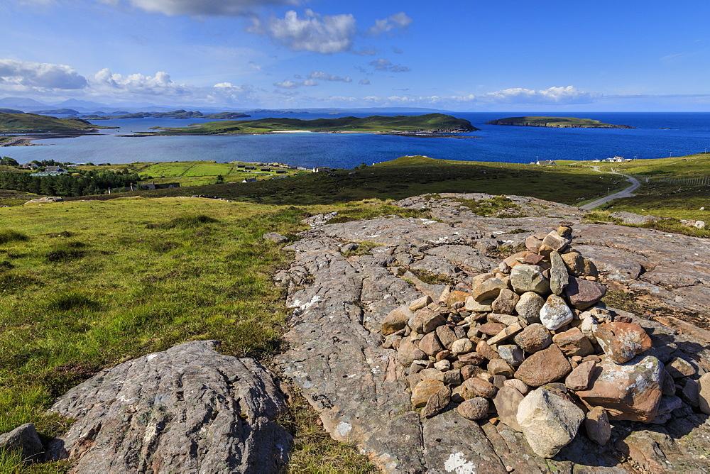 Isle Ristol, Eilean Mullagrach and The Summer Isles, Achiltibuie coast, Summer, Wester Ross, Scottish Highlands, Scotland - 1167-2022