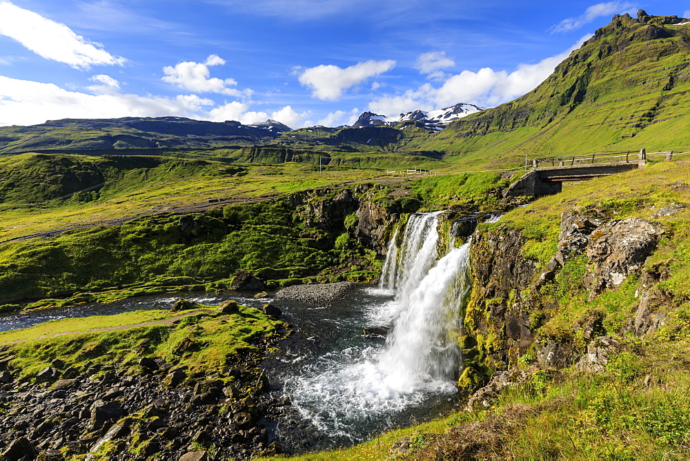 Kirkjufellsfoss waterfall in Grundarfjordur, Iceland, Europe - 1167-2048