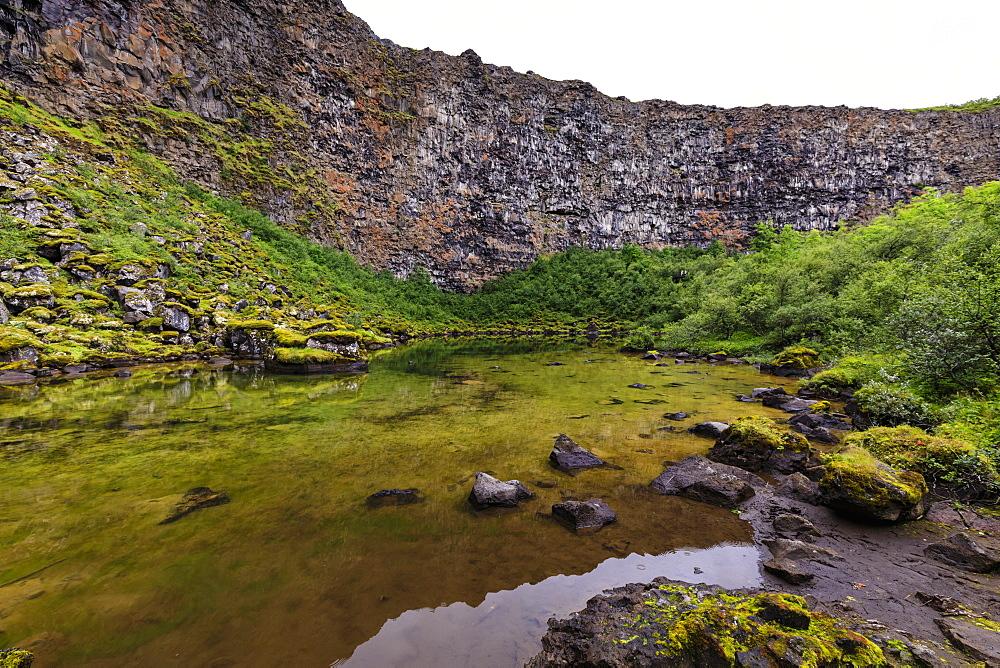 Botnstjorn pond in Vatnajokull National Park, Iceland, Europe