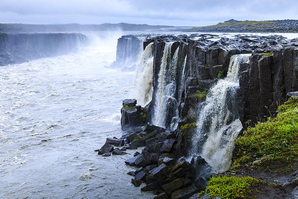 Selfoss waterfall, Jokulsa a Fjollum river, Jokulsargljufur Canyon, Vatnajokull National Park, Diamond Circle, North Iceland - 1167-2065