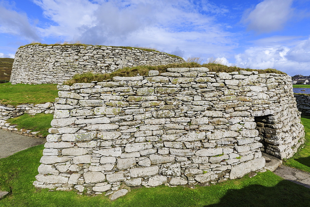 Clickimin Broch and Blockhouse, Iron Age Fort, Clickimin Loch, Central Lerwick, Shetland Isles, Scotland, United Kingdom, Europe