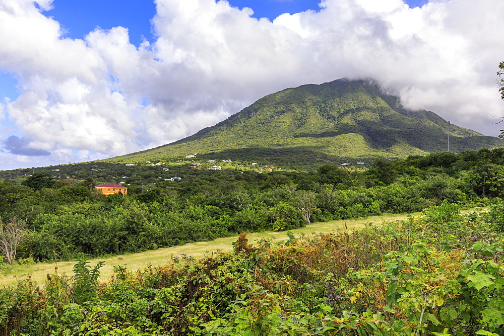 Nevis Peak, Mount Nevis, volcano, Nevis, St. Kitts and Nevis, West Indies, Caribbean, Central America
