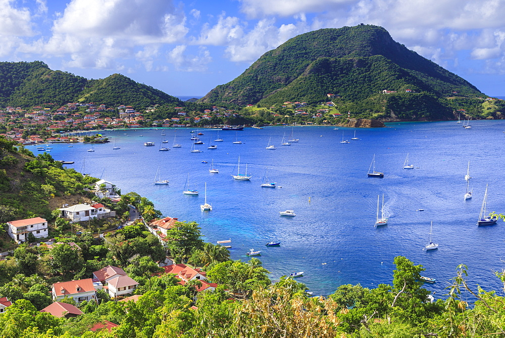 Beautiful Les Saintes Bay, Bourg des Saintes, Terre de Haut, Iles Des Saintes, Guadeloupe, Leeward Islands, West Indies, Caribbean, Central America