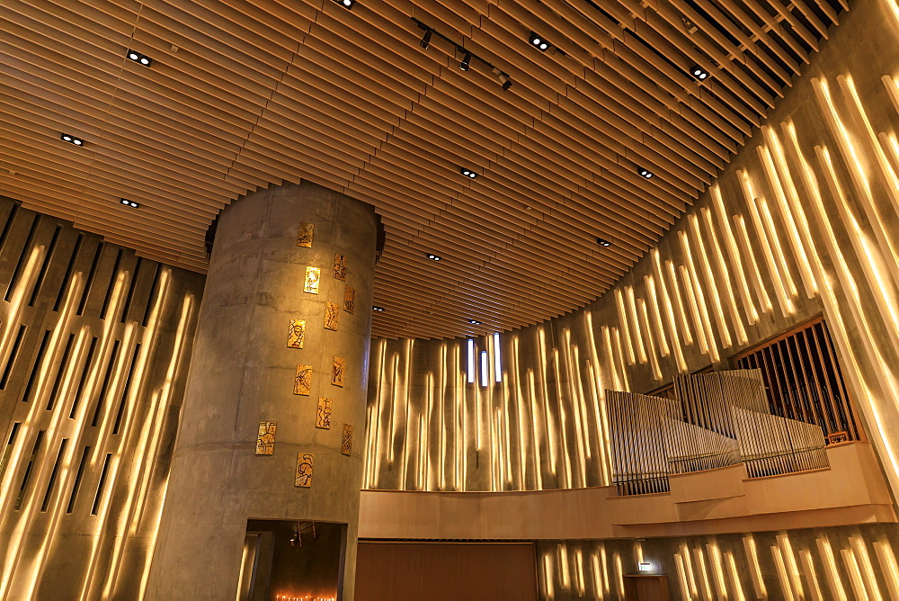 Northern Lights Cathedral, striking interior, Alta, Troms og Finnmark, Arctic Circle, North Norway, Scandinavia, Europe - 1167-2489