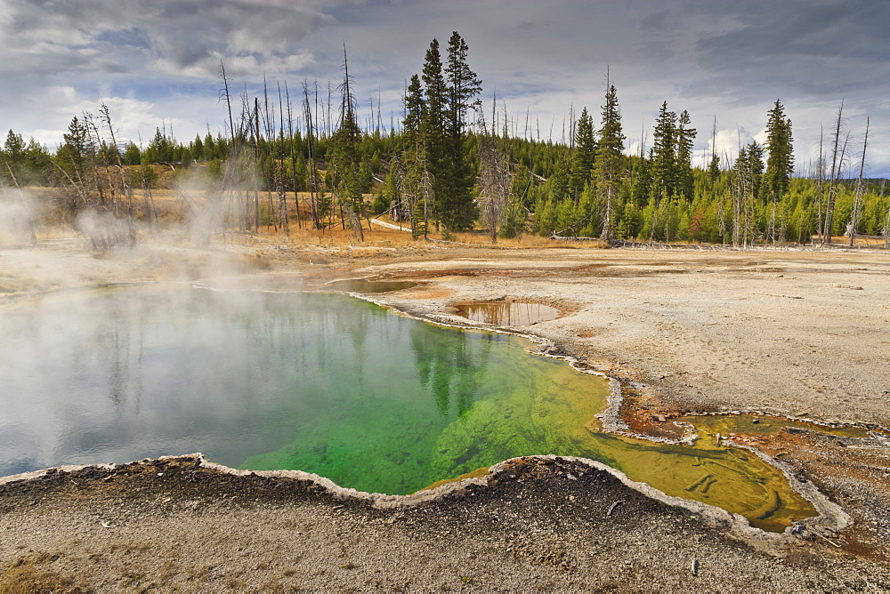 Abyss Pool, one of Yellowstone's deepest, West Thumb Geyser Basin, Yellowstone National Park, UNESCO World Heritage Site, Wyoming, United States of America, North America