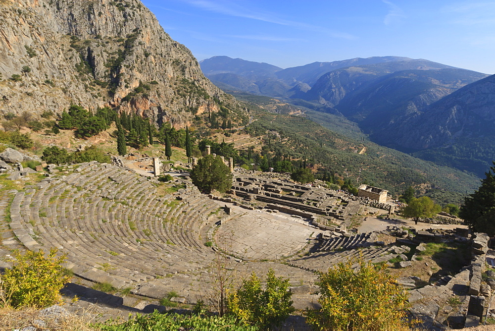 Theatre at Delphi, UNESCO World Heritage Site, Peloponnese, Greece, Europe