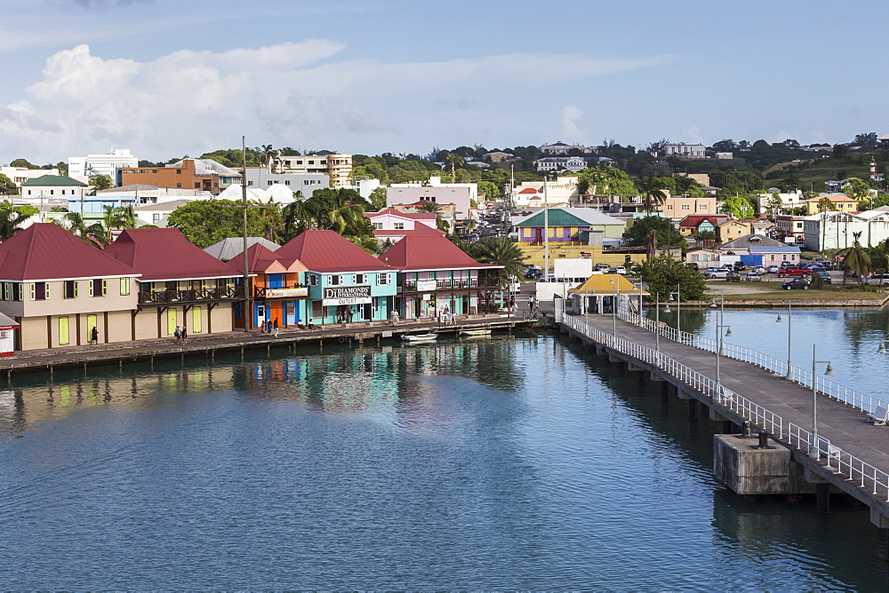 View of St. John's waterfront, Antigua, Leeward Islands, West Indies, Caribbean, Central America