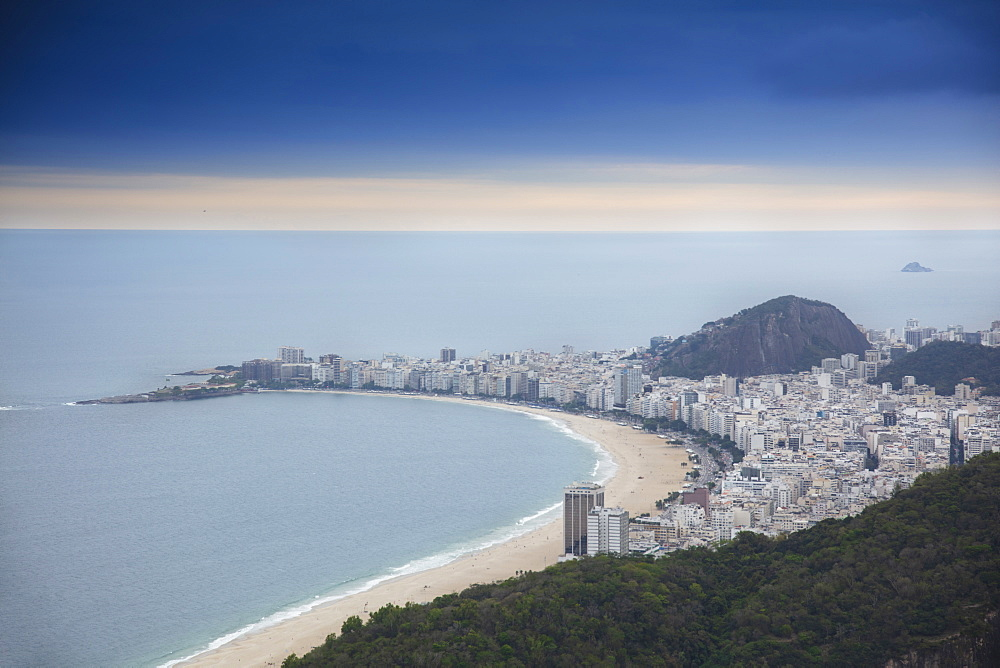 View of Copacabana Beach and the Atlantic Ocean, Rio de Janeiro, Brazil, South America