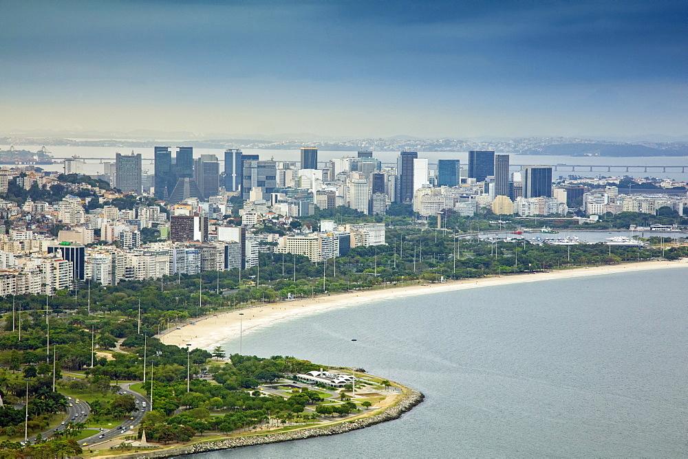 View of Gloria and the city centre of Rio de Janeiro, Brazil, South America