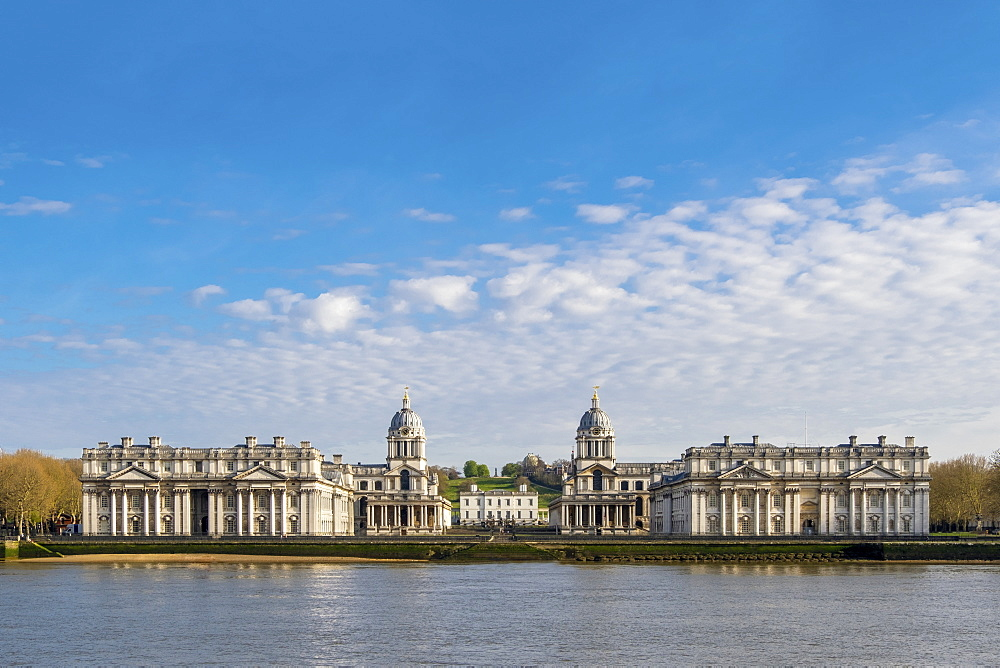 London, Greenwich. Greenwich Park, the Royal Observatory, the Queen???s House and Christopher Wren???s Royal Naval College