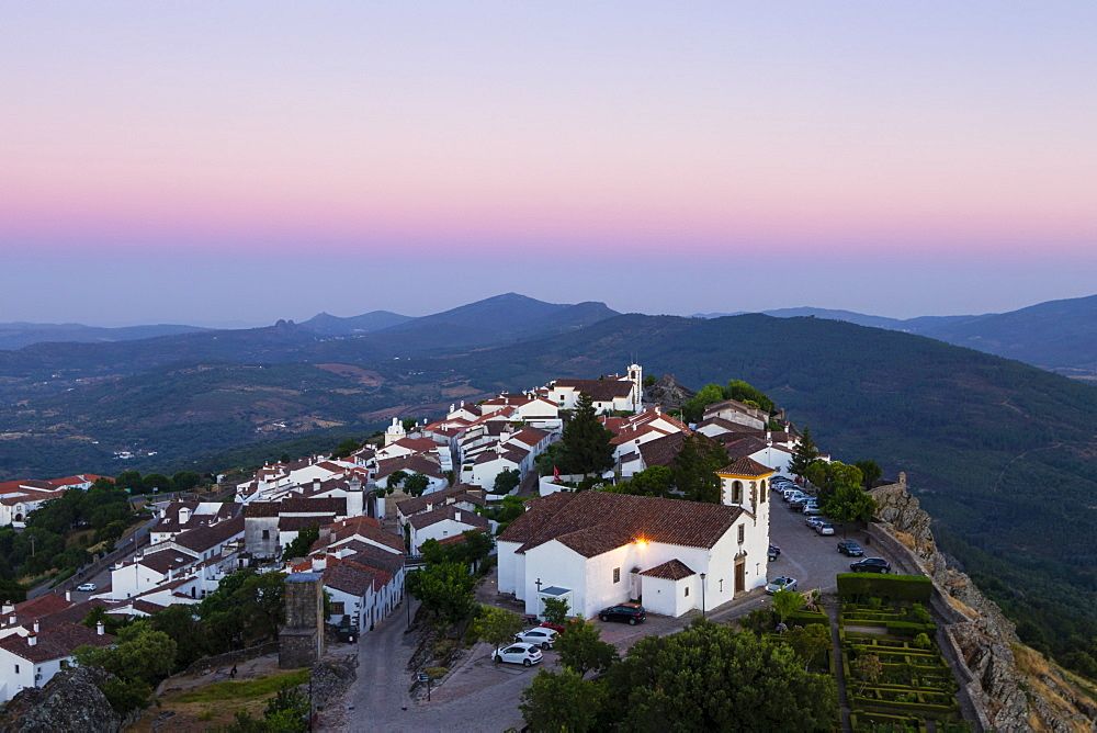 Marvao, a dramatic Portuguese medieval hill-top village in the Alentejo region bordering Spain, Portugal, Europe