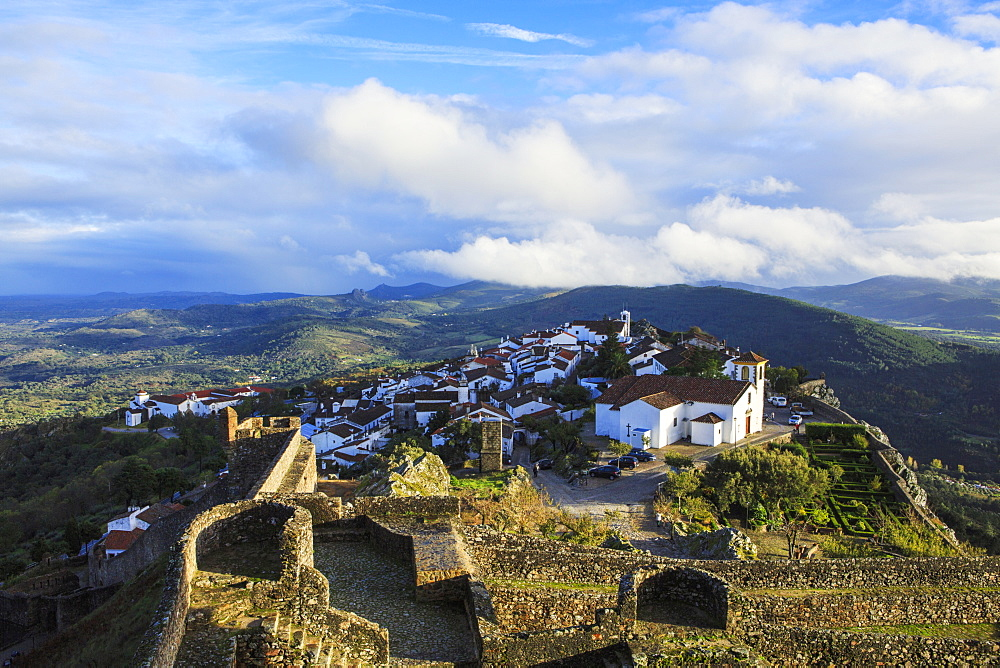 View of the village of Marvao in the northern Alentejo region, Portugal, Europe - 1176-890