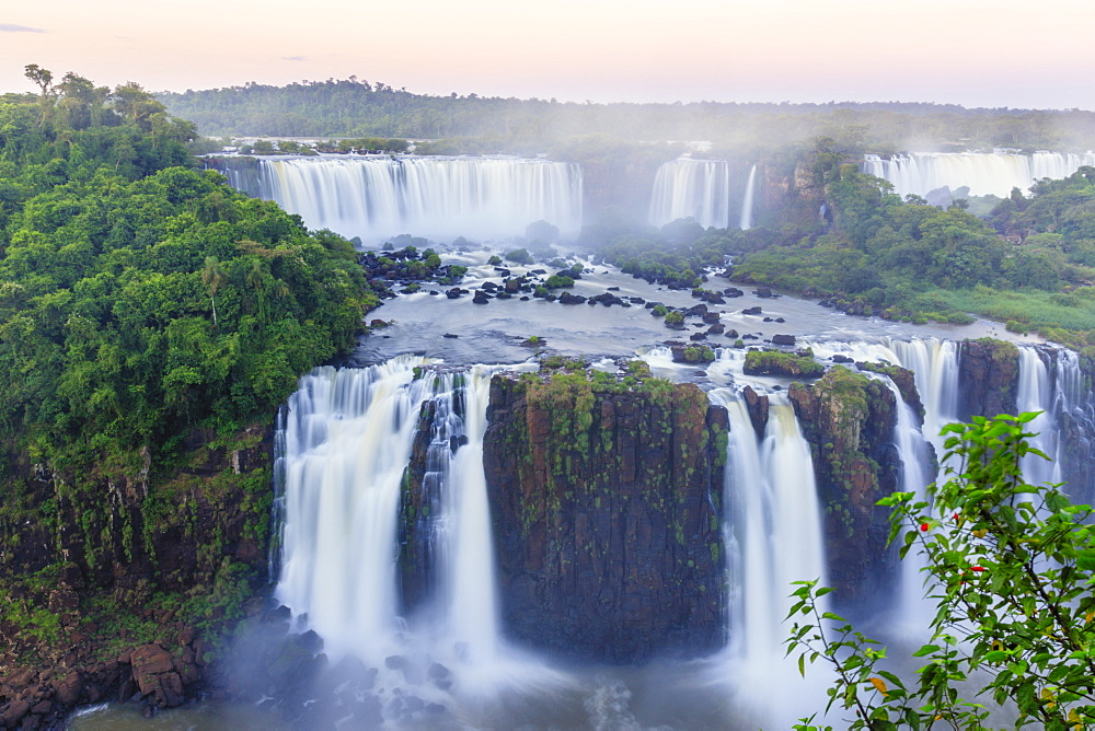 View of the Iguassu / Iguazu / Iguacu Falls world heritage site - a waterfall on the border of Brazil and Argentina - 1176-897