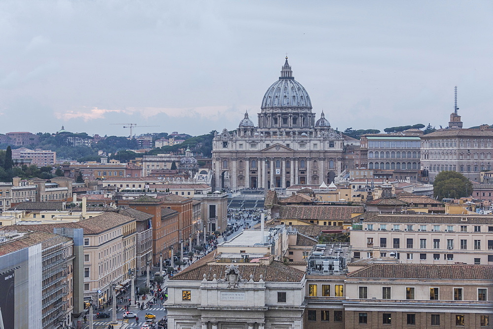 The ancient Basilica di San Pietro in Vaticano symbol of Catholic religion Rome Lazio Italy Europe
