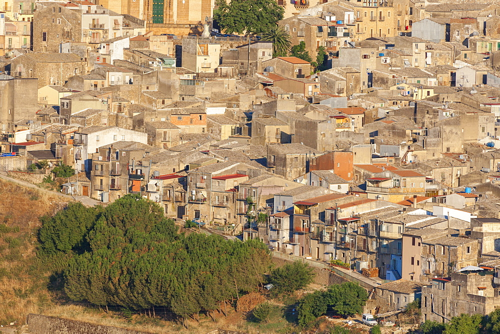 The ancient baroque old town of Piazza Armerina, Province of Enna, Sicily, Italy, Mediterranean, Europe
