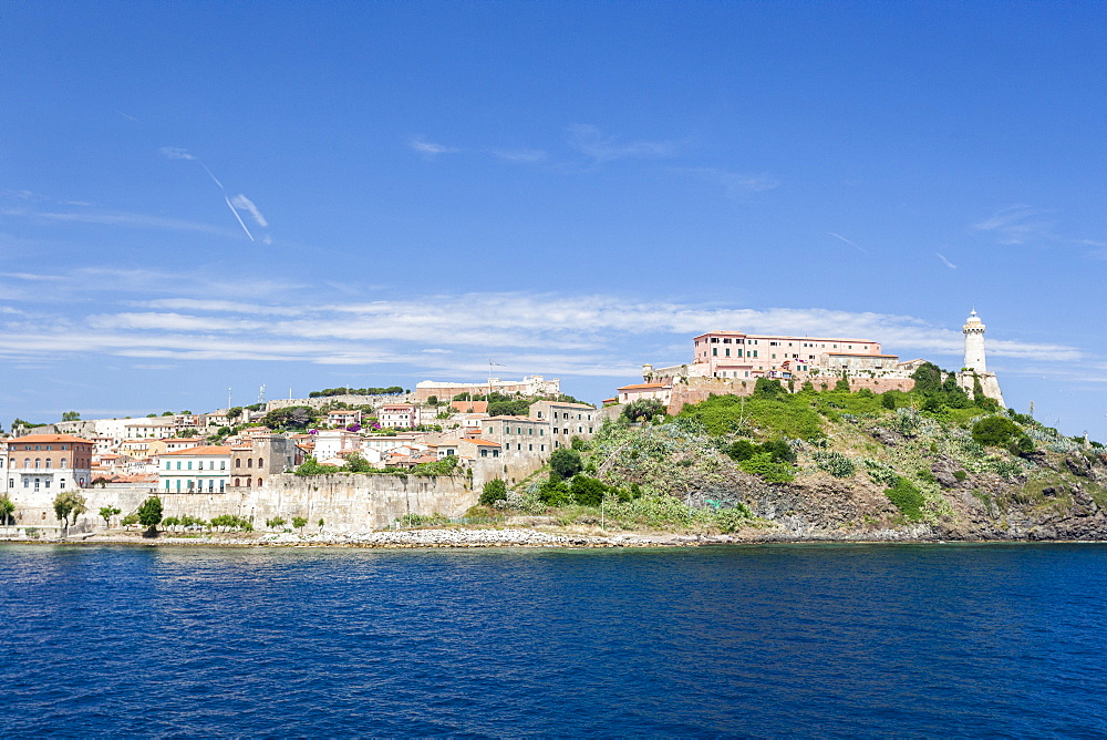 Lighthouse on the promontory, Portoferraio, Elba Island, Livorno Province, Tuscany, Italy - 1179-2609