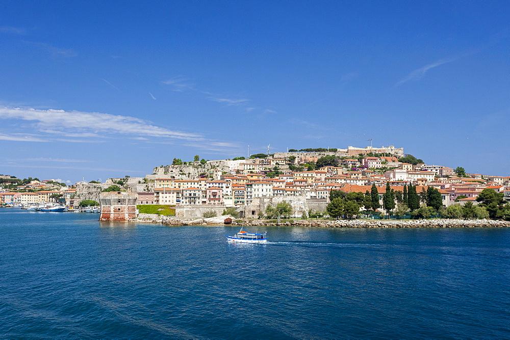 Historical Torre Della Linguella overlooking sea, Portoferraio, Elba Island, Livorno Province, Tuscany, Italy - 1179-2610