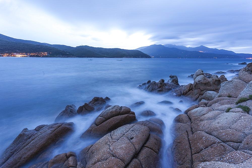 Blue sea at dusk, Marina di Campo, Elba Island, Livorno Province, Tuscany, Italy - 1179-2642
