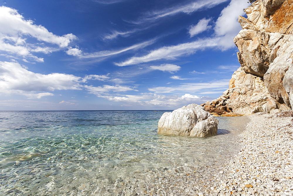 Turquoise sea, Sant'Andrea Beach, Marciana, Elba Island, Livorno Province, Tuscany, Italy - 1179-2662