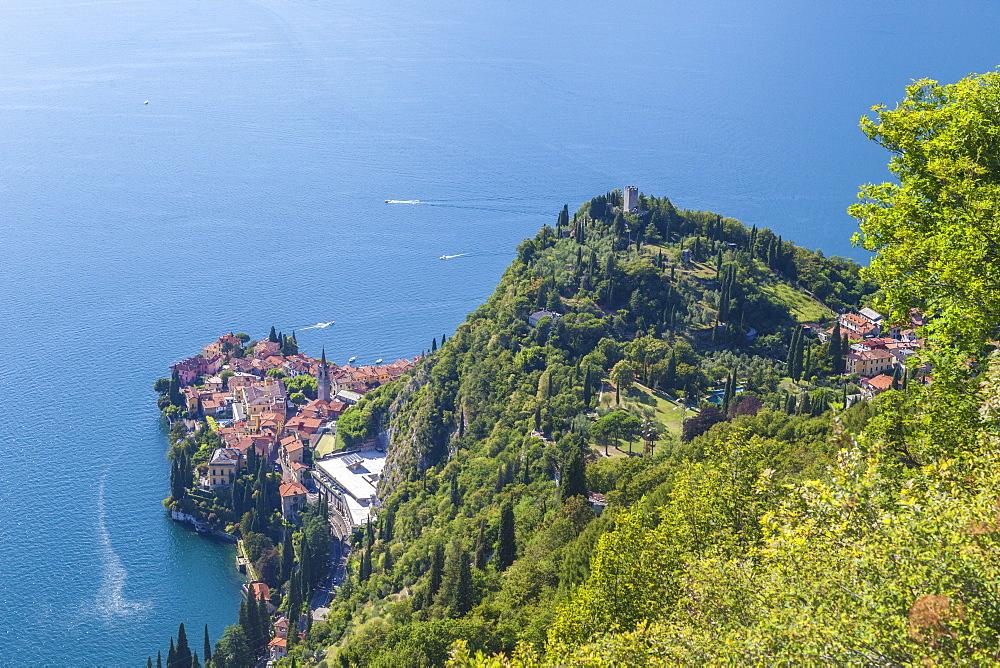 Castello di Vezio above the village of Varenna, Lake Como, province of Lecco, Lombardy, Italy - 1179-2689