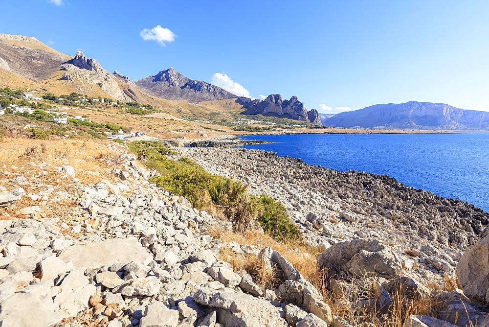 Beach of Isulidda, San Vito Lo Capo, province of Trapani, Sicily, Italy
