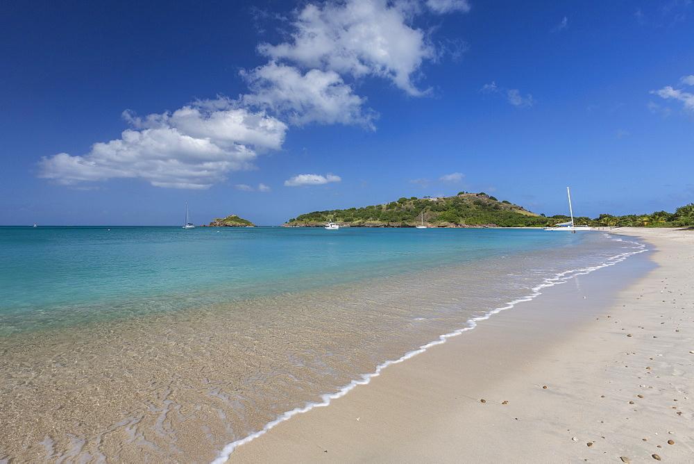 Deep Bay, a beach on the island of Antigua, Leeward Islands, West Indies, Caribbean, Central America