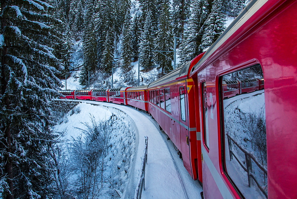 The Albula-Bernina railway, UNESCO World Heritage Site, a link between Switzerland and Italy, Switzerland, Europe - 1179-30
