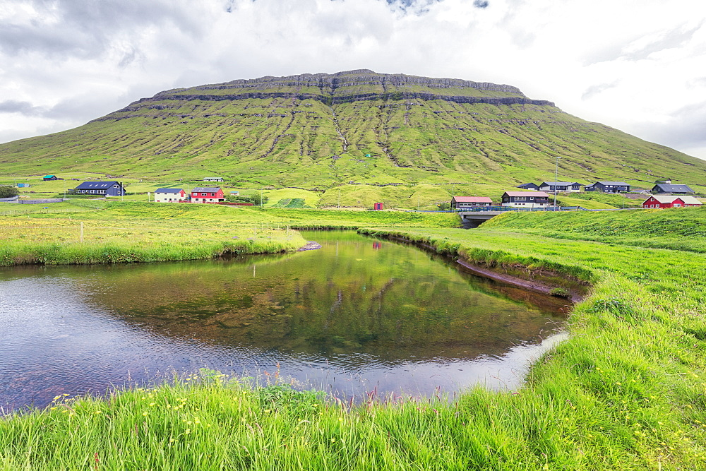 Village of Kollafjorour, Torshavn Municipality, Streymoy Island, Faroe Islands, Denmark, Europe