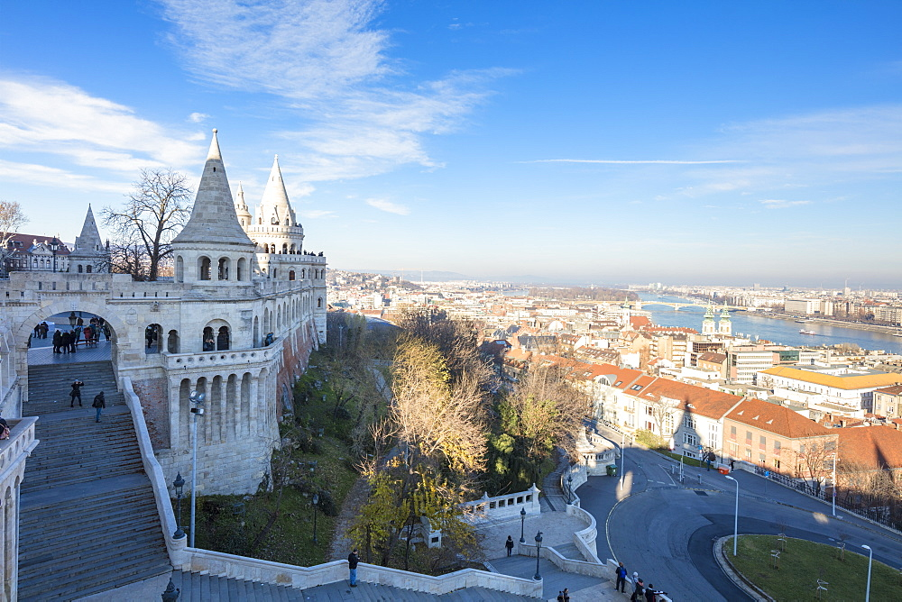 View of the city from Fisherman's Bastion, Budapest, Hungary, Europe