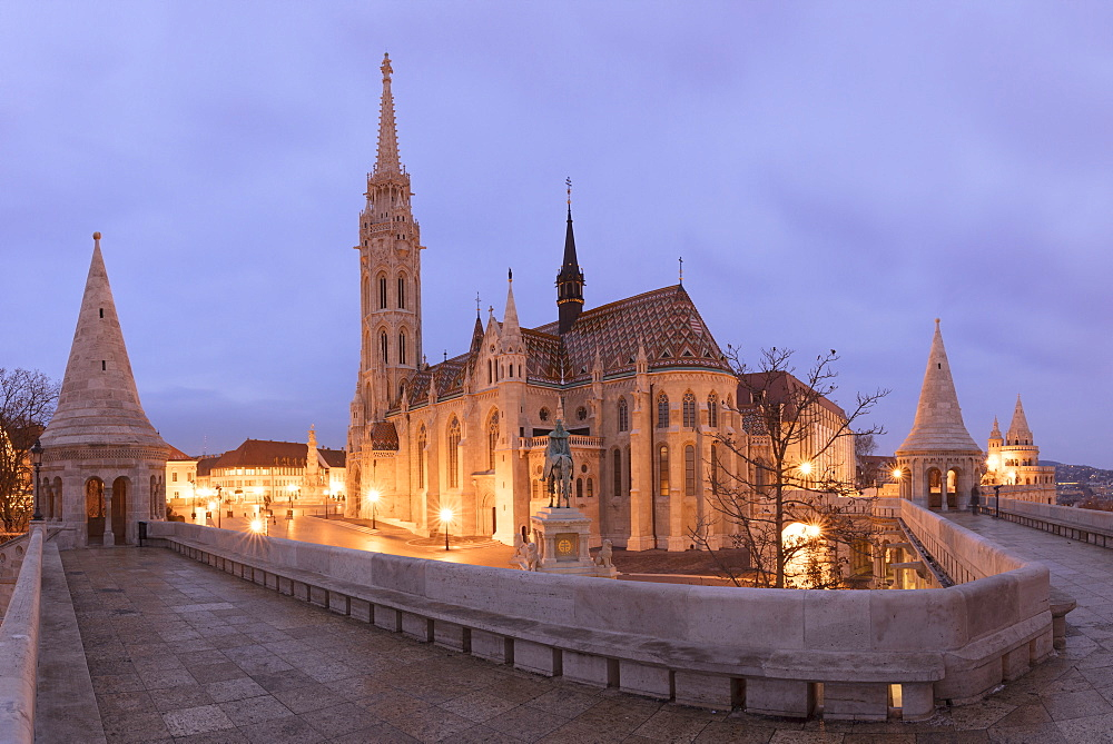 Matthias Church seen from Fisherman's Bastion, Budapest, Hungary, Europe