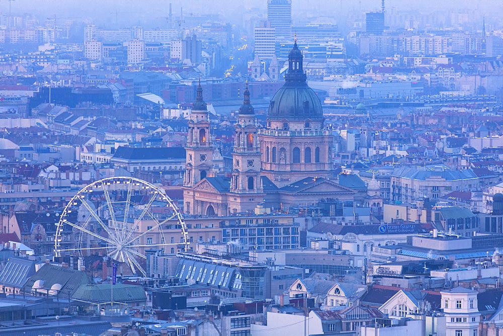 Budapest Eye and St. Stephen's Basilica, Budapest, Hungary, Europe