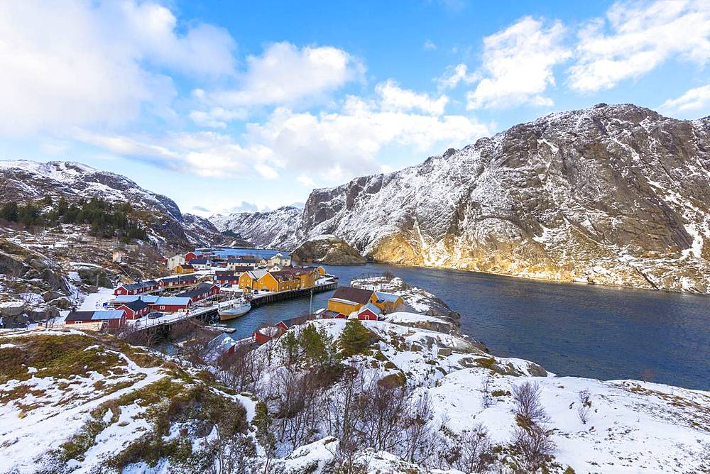 Fishing village of Nusfjord, Lofoten Islands, Nordland, Norway, Europe
