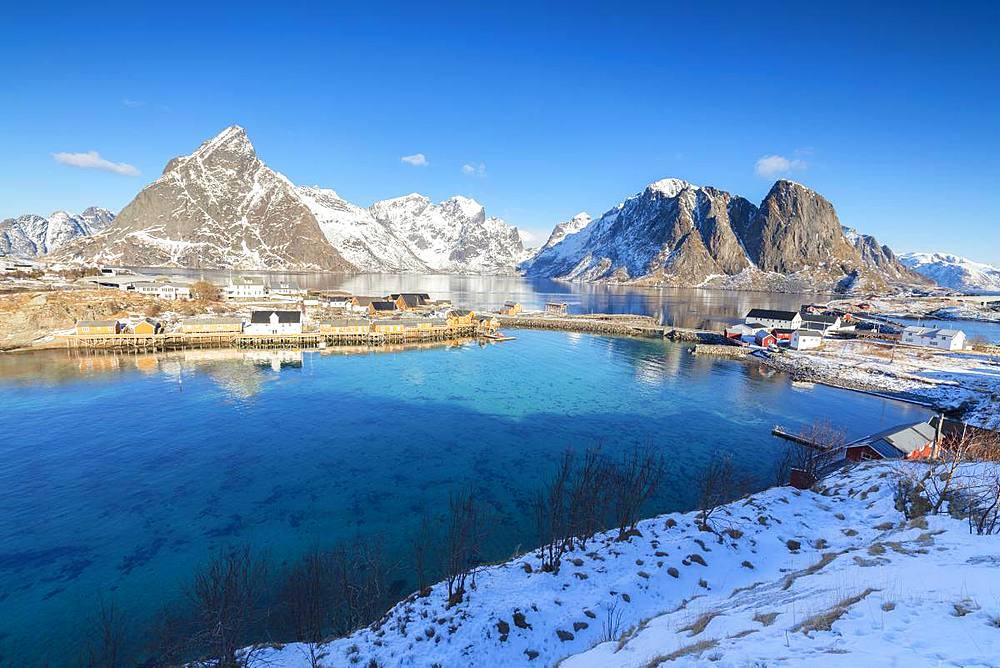 Village of Sakrisoy, Lofoten Islands, Nordland, Norway, Europe