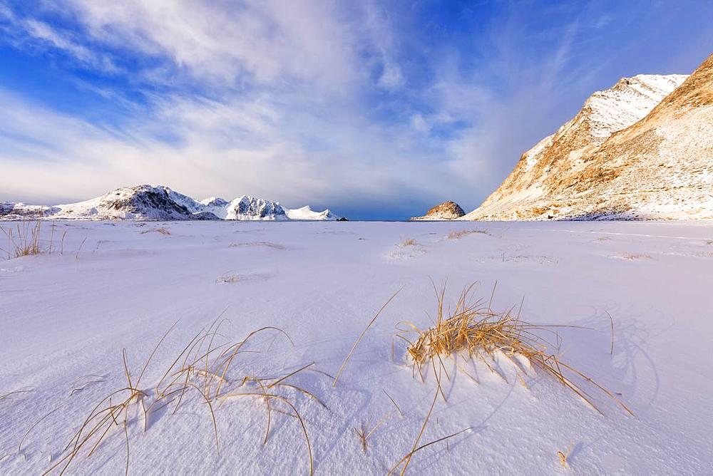 Haukland Beach, Leknes, Vestvagoy, Lofoten Islands, Nordland, Norway, Europe - 1179-3375