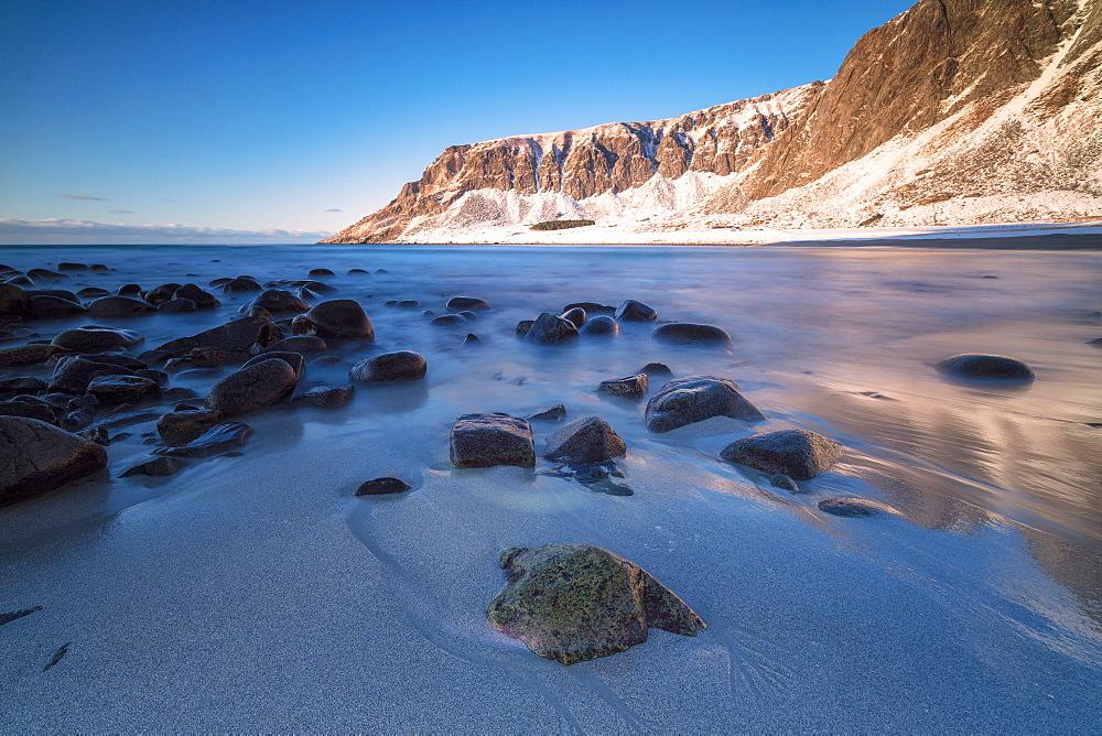 Unstad beach, Vestvagoy, Lofoten Islands, Nordland, Norway, Europe - 1179-3381