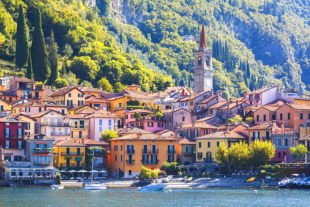 The iconic village of Varenna on the shore of Lake Como, Lecco province, Lombardy, Italian Lakes, Italy, Europe - 1179-3487