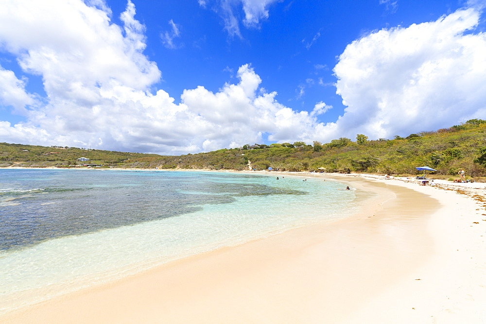 White sand beach, Half Moon Bay, Antigua and Barbuda, Leeward Islands, West Indies, Caribbean, Central America