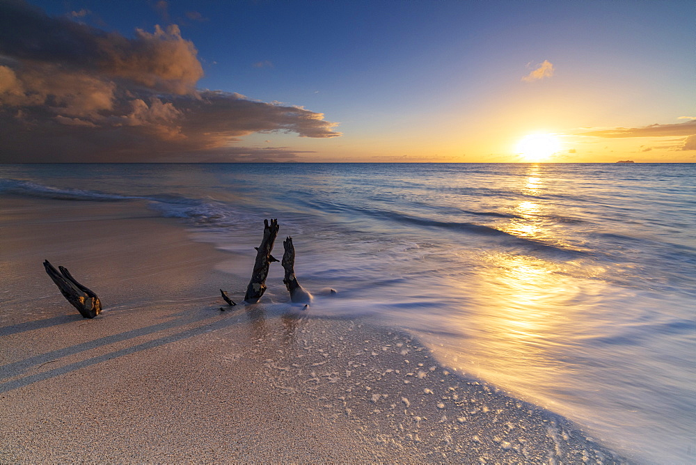 Sunset on Ffryes Beach, Antigua, Antigua and Barbuda, Leeward Islands, West Indies, Caribbean, Central America