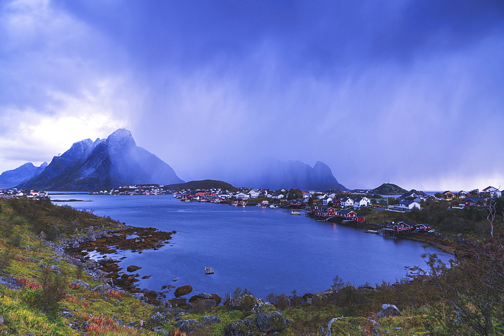 Landscape of Reine in Moskenes, Norway, Europe