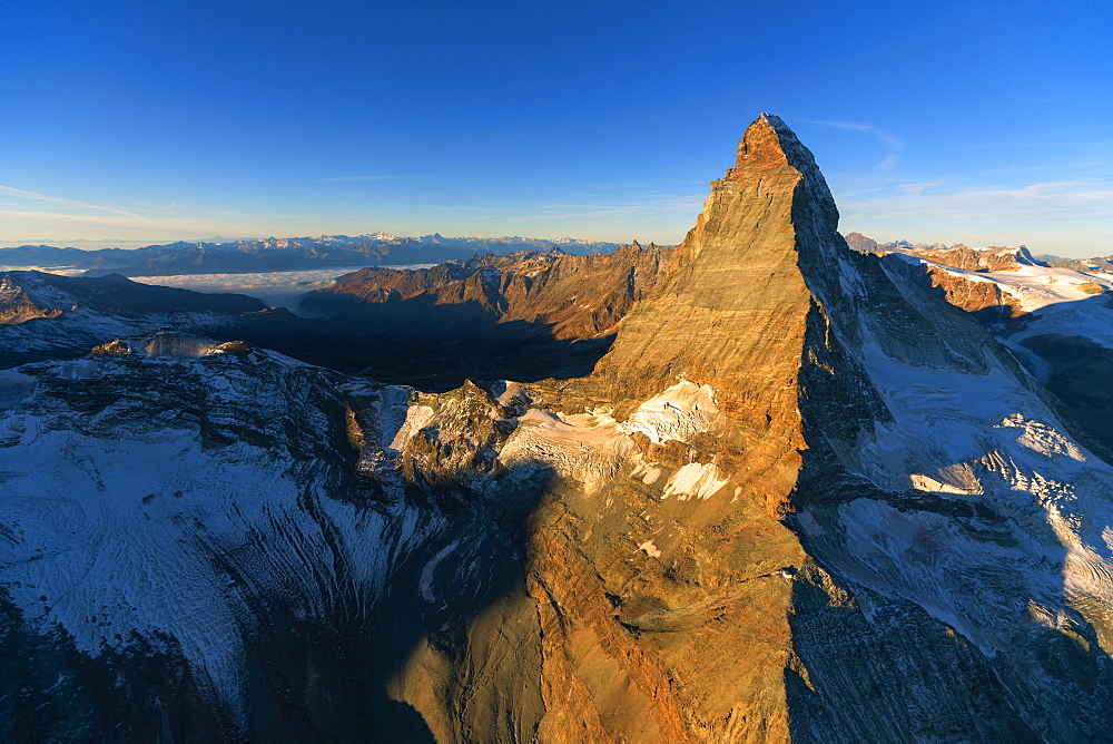 Matterhorn during sunrise in Zermatt, Switzerland, Europe