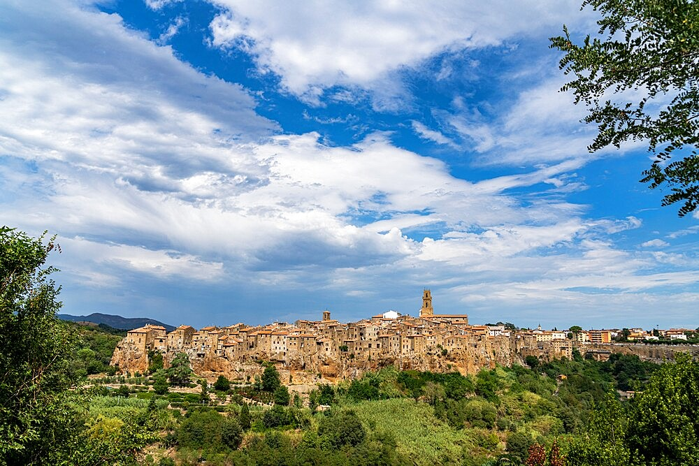 Medieval town of Pitigliano on hilltop, province of Grosseto, Tuscany, Italy, Europe - 1179-4971