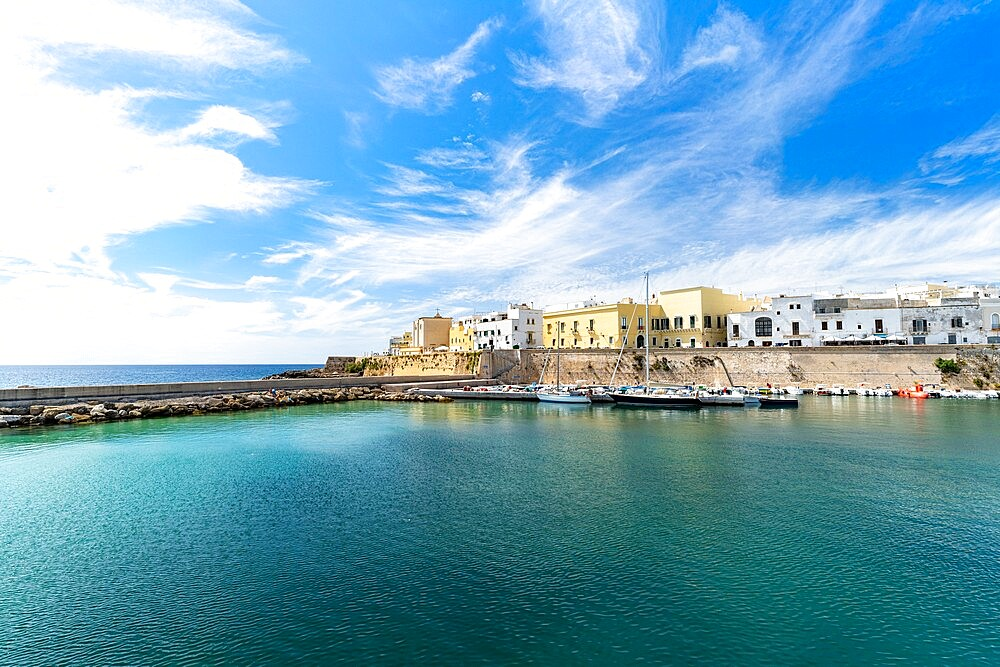 Old town and harbor of Gallipoli, Lecce province, Salento, Apulia, Italy, Europe - 1179-4986