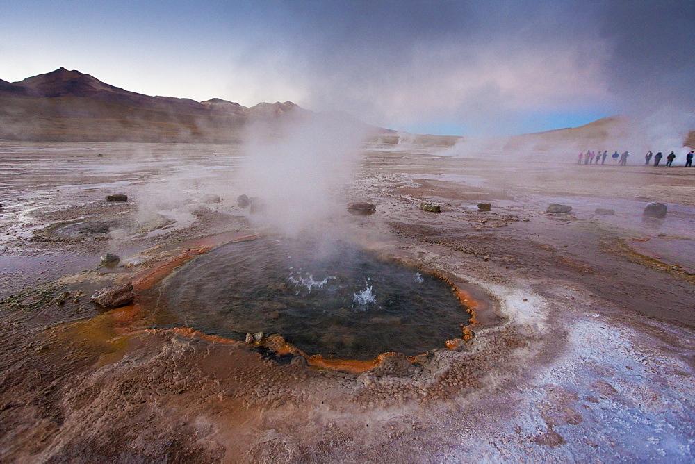The geyser field of El Tatio, Chile, South America