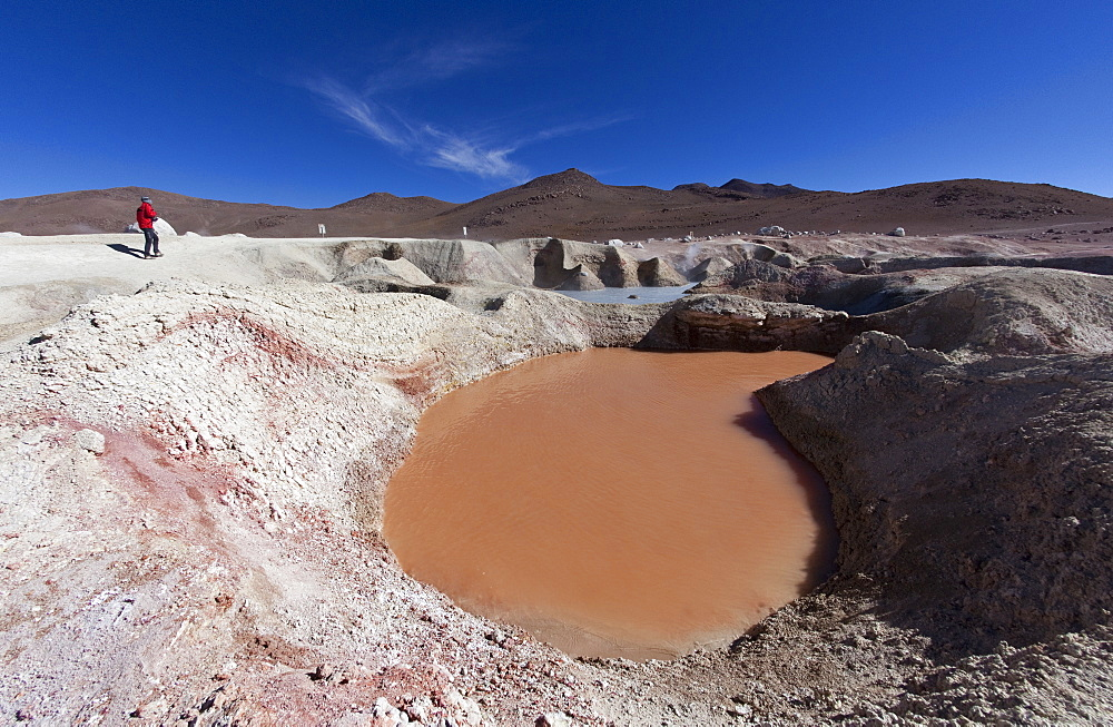Sol de Manana, a geothermal field in Sur Lipez Province in the Potosi Department, Bolivia, South America