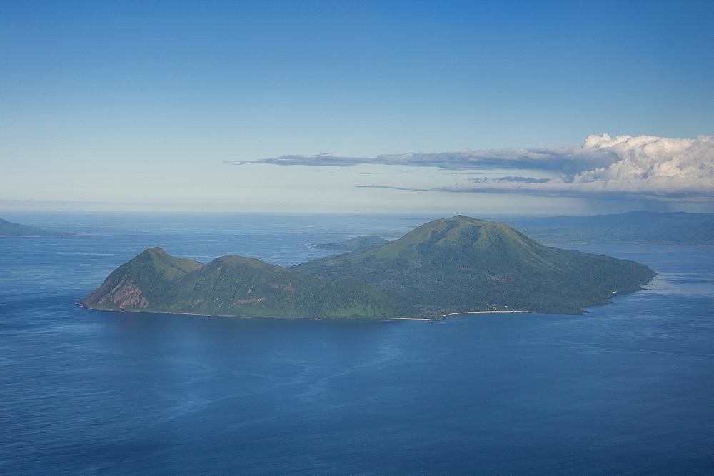 Aerial of Tongoa island, Shepherd Islands, Vanuatu, Pacific