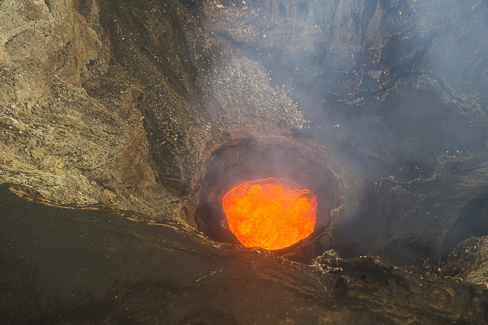 Lava lake in the caldera of the Ambrym volcano, Vanuatu